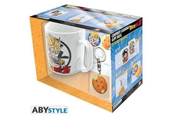 Caneca DRAGON BALL Z Porta-chaves e 2 pins (460ml)