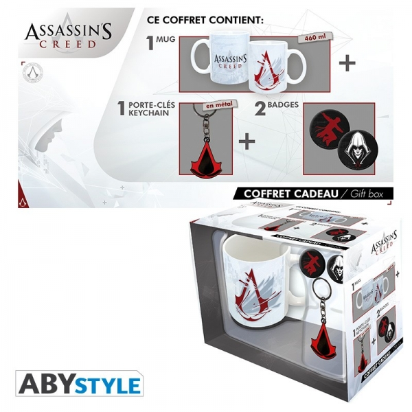 Caneca ASSASSINS CREED (Porta-chaves e 2 Pins)