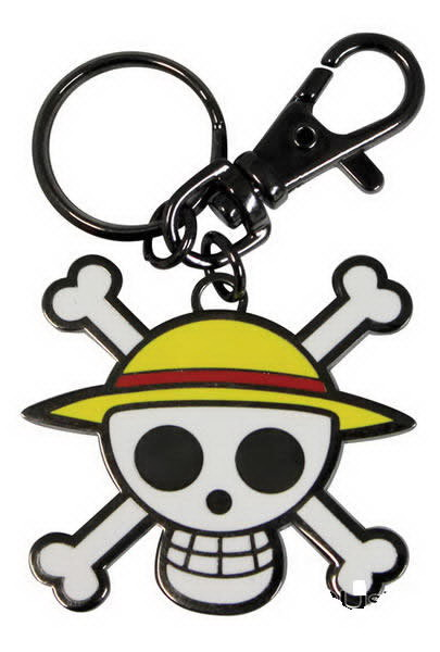 Porta-Chaves ONE PIECE Skull Luff Metal