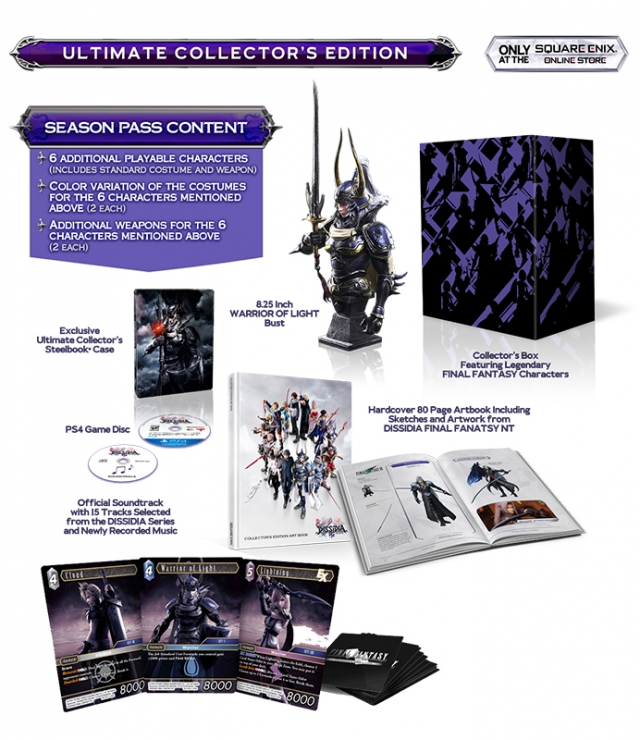 DISSIDIA FINAL FANTASY NT Ultimate Collectors Edition (Oferta 3 Cartas Físicas) PS4