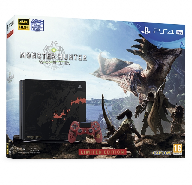 CONSOLA PS4 PRO 1TB Edição Limitada Monster Hunter: World - Rathalos