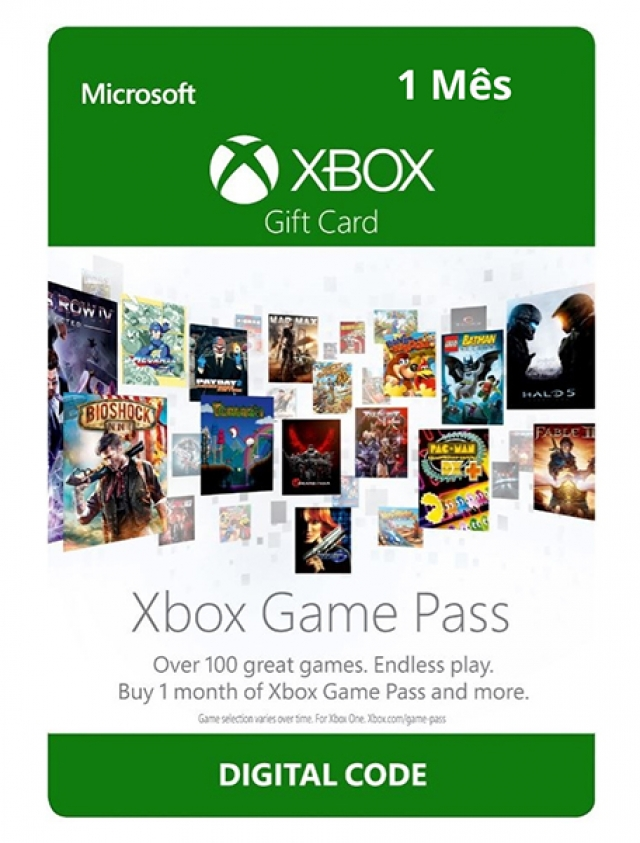 GAME PASS 1 MÊS XBOX ONE