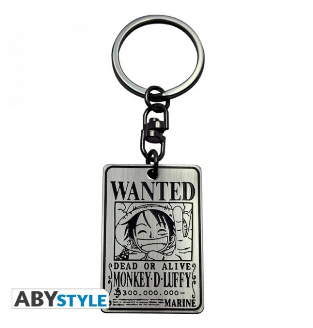 Porta-Chaves ONE PIECE Wanted Luffy Matel