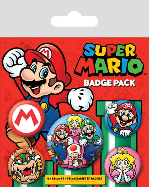 Pins SUPER MARIO Retro Badge Pack (5 pins)