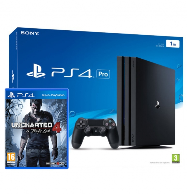 CONSOLA PS4 PRO 1TB Bundle UNCHARTED 4