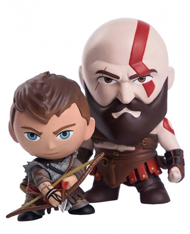 FIGURAS GOD OF WAR Katos e Atreus (Pack 2)