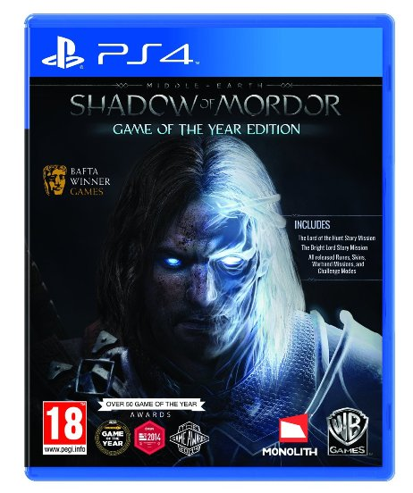 MIDDLE EARTH SHADOW OF MORDOR Game of The Year Edition PS4