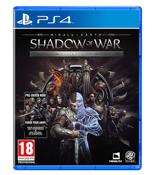 MIDDLE EARTH SHADOW OF WAR Silver Edition (Oferta Steelbook) PS4
