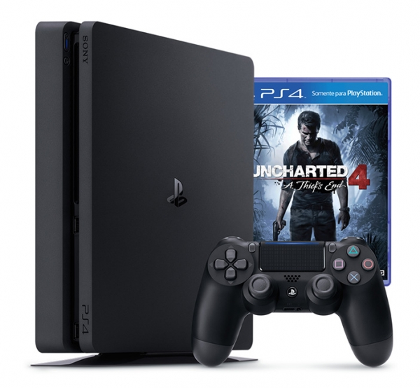 CONSOLA PS4 Slim 500GB Bundle UNCHARTED 4