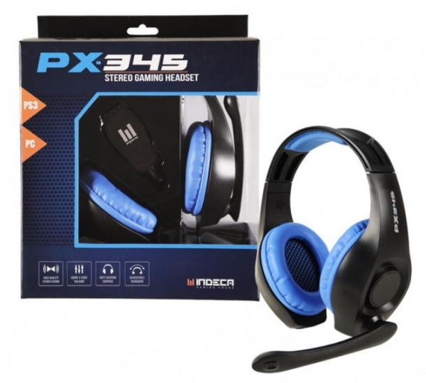 AUSCULTADORES GAMING INDECA PX345 PS3/PC/Mac